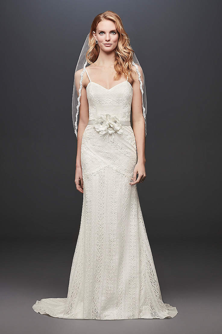 52827d7ac Sheath & Form Fitting Wedding Dresses | David's Bridal