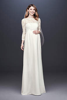 Long Sheath Simple Wedding Dress - David's Bridal Collection