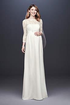Long Sheath Simple Wedding Dress - David's Bridal Collection