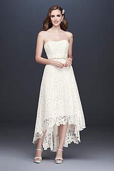 High Low A-Line Beach Wedding Dress - Galina