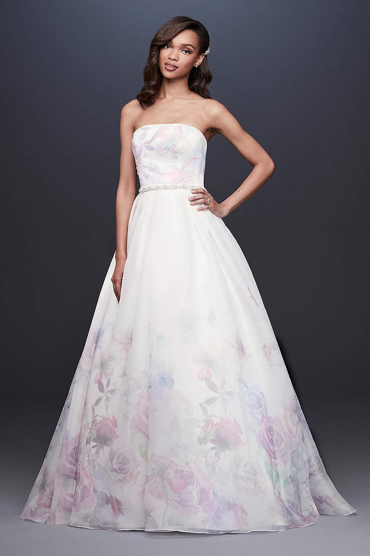 Long Ballgown Wedding Dress - David s Bridal Collection ff091042c19b