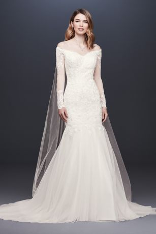 As-Is Long Sleeve Off-the-Shoulder Wedding Dress