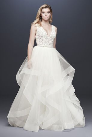 Long Separates Wedding Dress - David's Bridal Collection