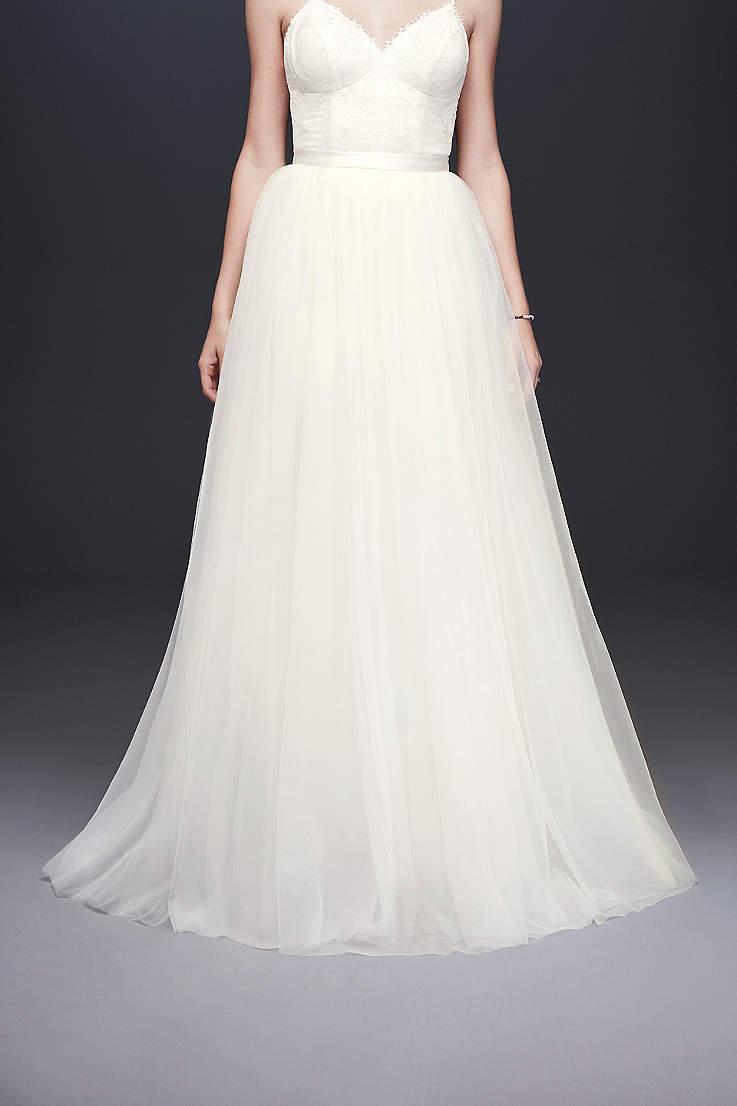 6369e394d30 Long Separates Wedding Dress - David s Bridal Collection