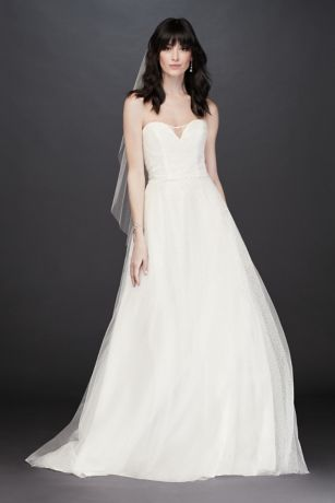 6b11300d778 Long Ballgown Wedding Dress - David s Bridal Collection