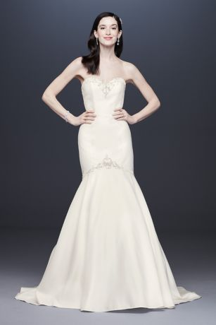 Beaded Satin Sweetheart Mermaid Wedding Dress