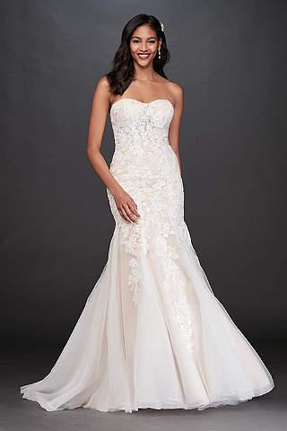 petite Long Mermaid/ Trumpet Wedding Dress