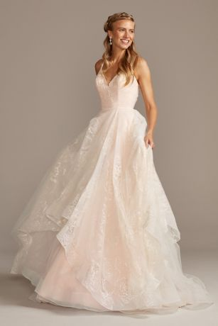 As Is Glitter and Tulle Layered Wedding Dress