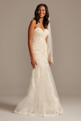 As Is Layered Lace Mermaid Wedding Dress