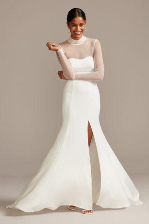 Long Sheath Long Sleeves Dress - David's Bridal Collection