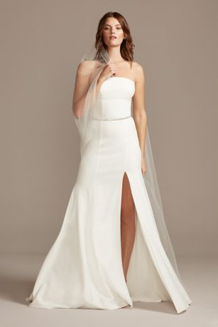 Soft & Flowy David's Bridal Collection Long Bridesmaid Dress