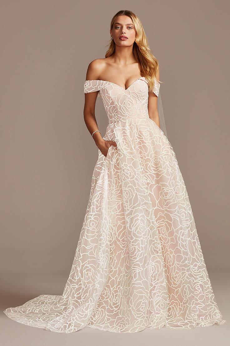 Light Pink Blush Wedding Dresses David S Bridal