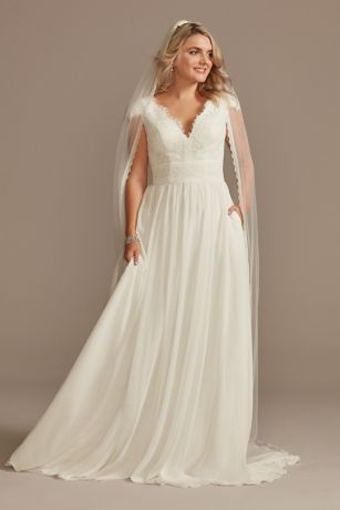 Long A-Line Wedding Dress - DB Studio