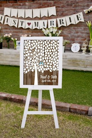 Personalized Lovebirds Tree Signature Guest Book