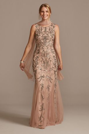 Long Mermaid / Trumpet Tank Dress - David's Bridal