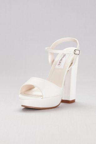 348a06e9d23 Dyeables White (Dyeable Matte Satin Platform Sandals)