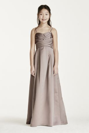 Long Ball Gown with Spaghetti Straps