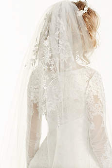 Embroidered Cathedral Length Veil