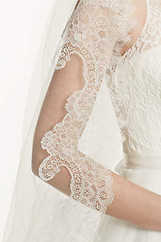Cathedral Veil with Chantilly Lace Edge Design