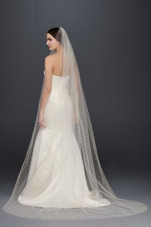 Scattered Crystal Cathedral Veil David S Bridal