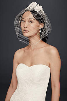 Blusher Veil with Beaded Lace