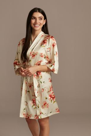 Floating Florals Satin Robe
