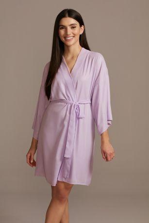 Chiffon Wrap Front Robe
