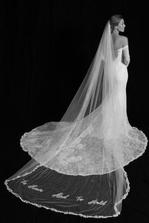 To Have and to Hold Applique Cathedral Veil