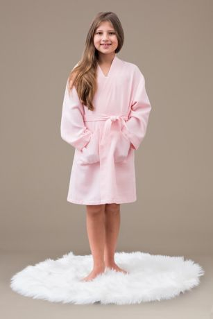 Child Embroidered Waffle Knit Robe