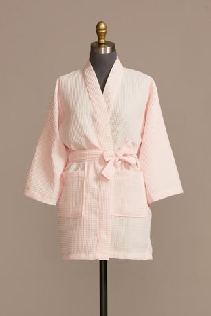 Junior Bridesmaid Embroidered Waffle Knit Robe