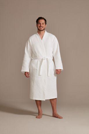 Mens Waffle Knit Robe