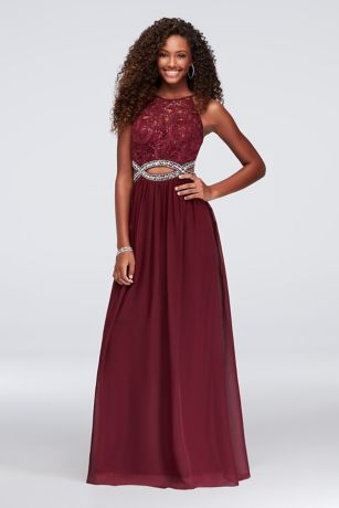 Long A-Line Halter Dress - Speechless