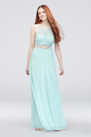 4c523170c1481 Long A-Line Halter Dress - Speechless
