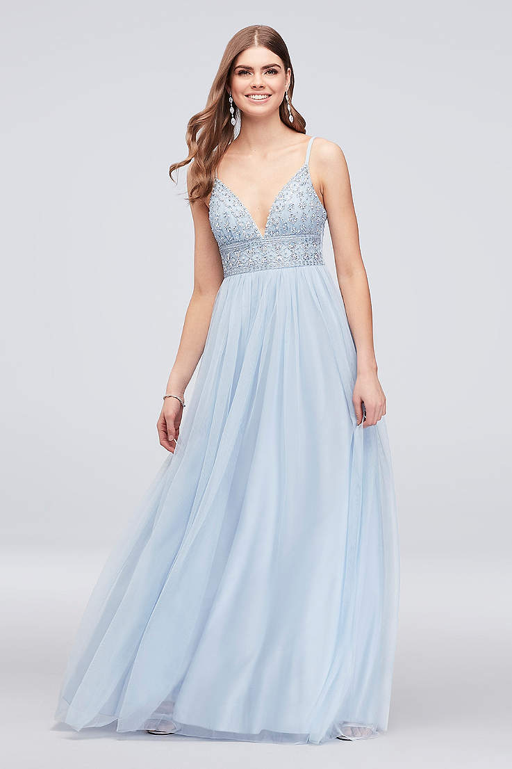 Blue Long Prom Dresses