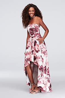High Low Ballgown Strapless Formal Dresses Dress - Speechless