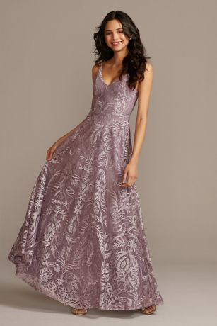 Long Ballgown Spaghetti Strap;V Neck Dress - Speechless