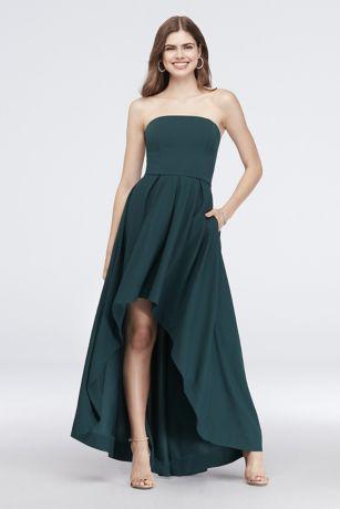 High Low A-Line Strapless Dress - Speechless
