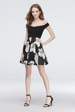 Short Ballgown Off the Shoulder Dress - Speechless