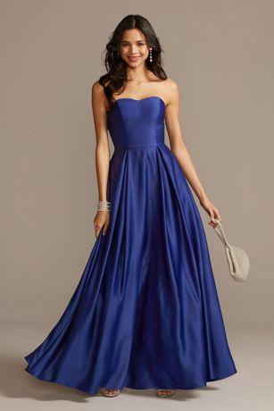 Long Ballgown Strapless Dress - Speechless
