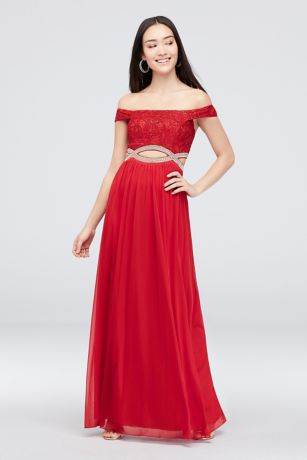 Long A-Line Off the Shoulder Dress - Speechless
