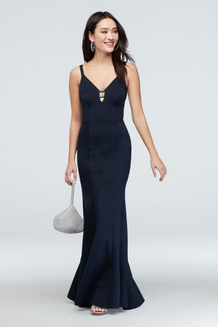 Long Mermaid/ Trumpet Spaghetti Strap Dress - Speechless