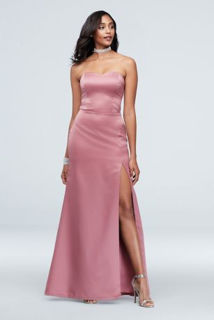 Long Sheath Strapless Dress - Speechless