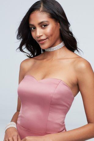 Crystal Diagonal-Cut Choker Necklace