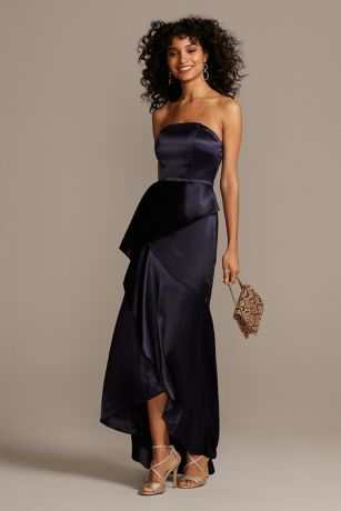 Long Sheath Strapless Dress - Speechless