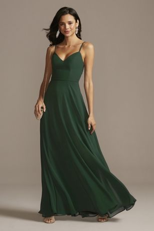 Long A-Line Spaghetti Strap Dress - Speechless