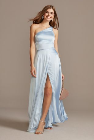 Long A-Line One Shoulder Dress - Speechless