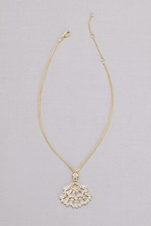 Crystal Baguette Pendant Necklace
