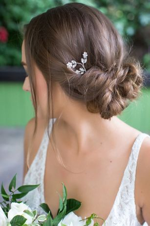 Crystal Flower Trio Hair Pin