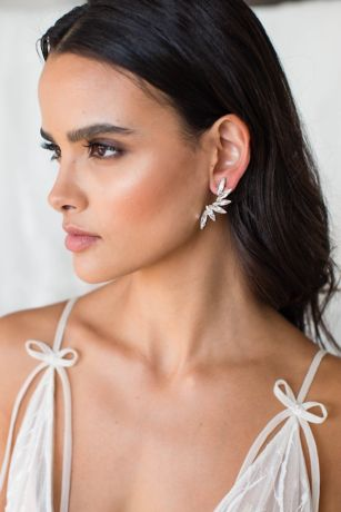 Swarovski and Sterling Marquise Cascade Earrings
