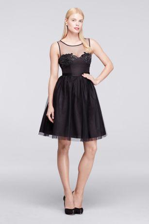 Soft & Flowy;Structured Truly Zac Posen Short Bridesmaid Dress